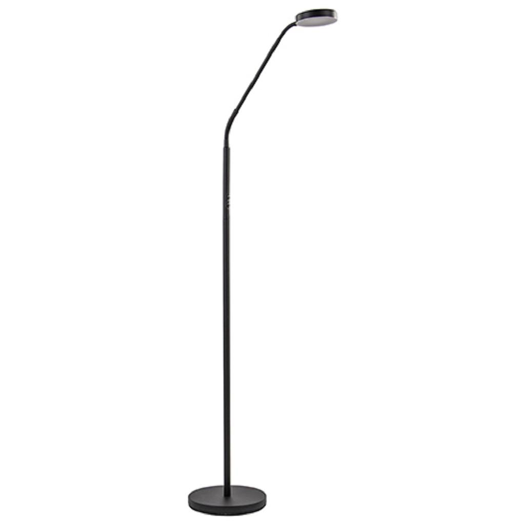 Moderne vloerlamp zwart met dimbaar LED