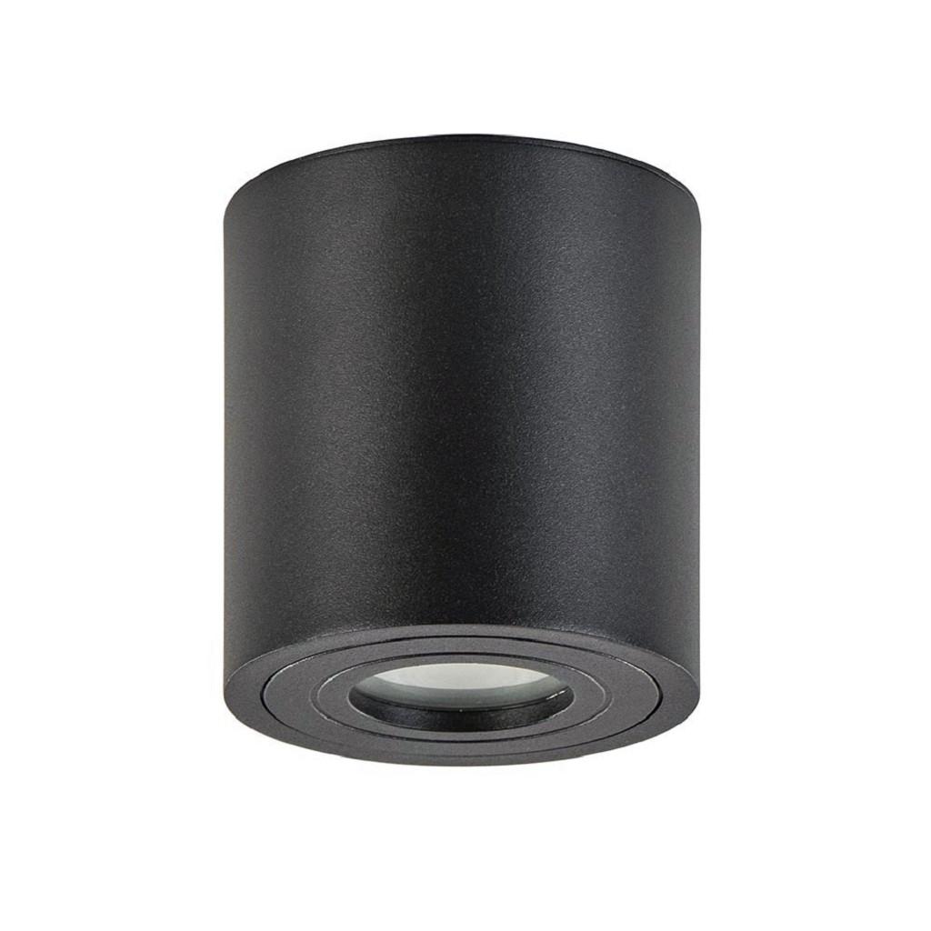 Badkamerspot cilinder zwart gu10