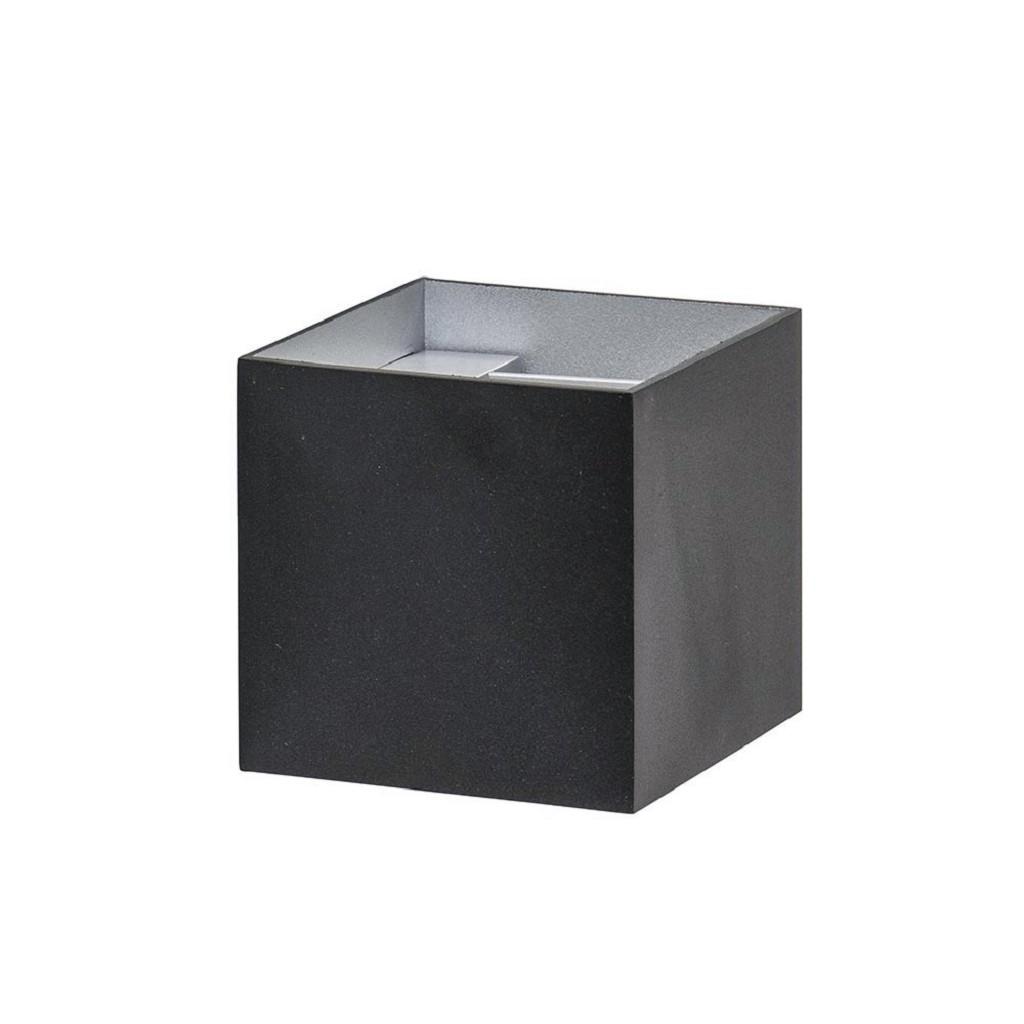 Wandlamp kubus verst. zwart/grijs ex.g9