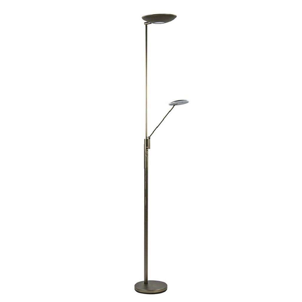 Klassieke LED uplighter met leeslamp verstelbaar