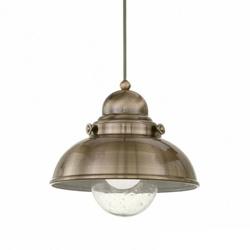 Landelijke hanglamp brons keuken/gang