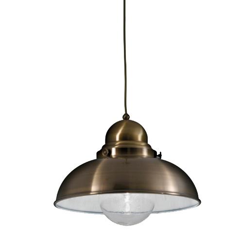 Maritiem hanglamp brons voor boven eettafel
