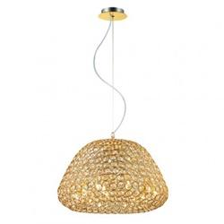 Klassieke hanglamp goud, kristal