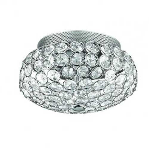 Chique plafonnière kristal chroom