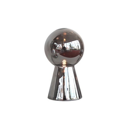 Luxe tafellamp glas diep chroom