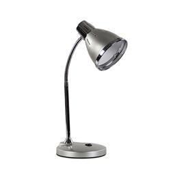 Retro tafellamp zilver met chroom