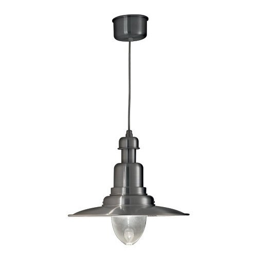 *Hanglamp aluminium scheeps stijl glas