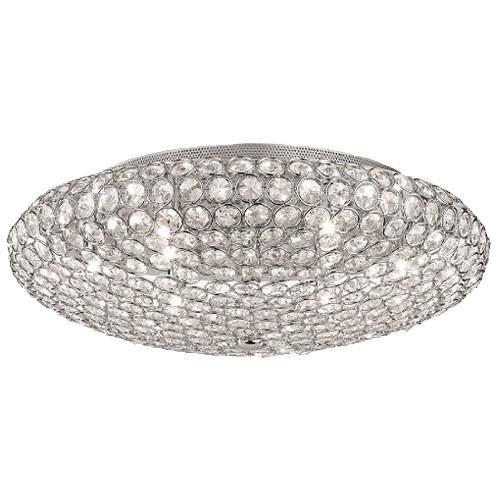 Chique plafondlamp kristal slaapkamer | Straluma