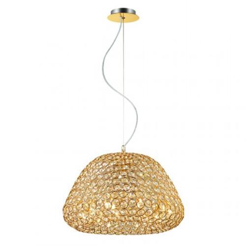 **Klassieke hanglamp goud met kristal