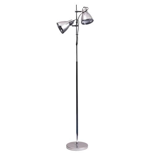 Zilver vloerlamp Retro verstelbaar