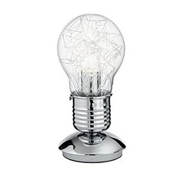 **Tafellamp Gloeilamp draad helder glas