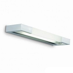 Wandlamp aluminium, glas