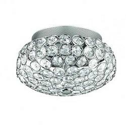 Chique plafonniere kristal chroom