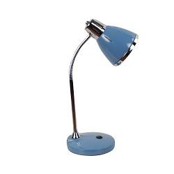 Retro bureaulamp blauw verstelbaar