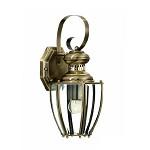 Klassieke wandlamp lantaarn brons