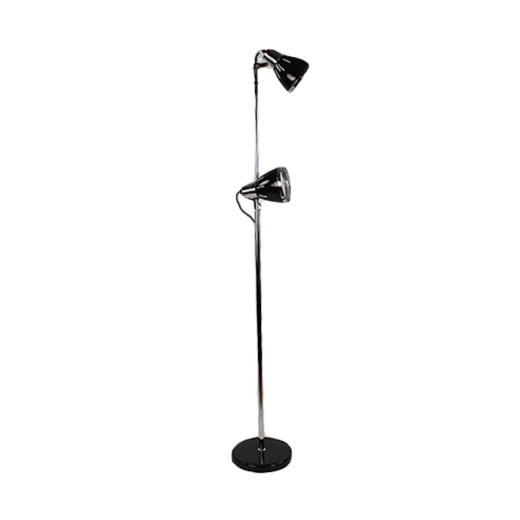 Zwarte vloerlamp Retro verstelbaar