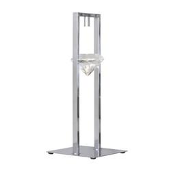 Tafellamp design chroom, kristal