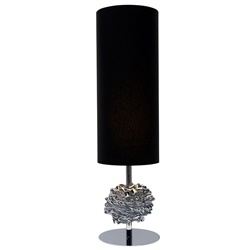 Tafellamp chroom met zwarte kap