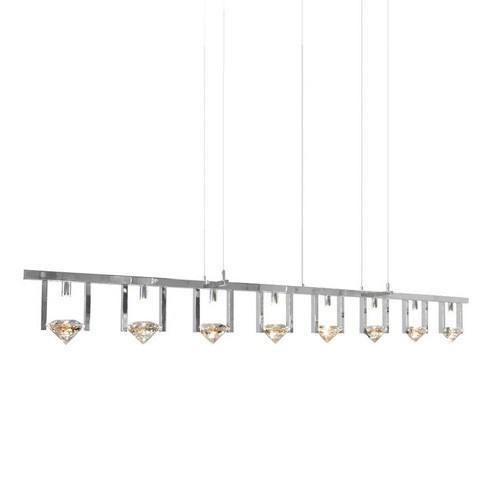 Hanglamp design chroom, kristal