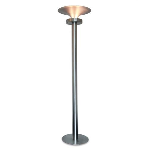 *Vloerlamp kolom / cilinder nikkel