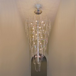 *Hanglamp / videlamp swarovski strass