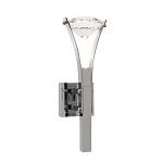 Wandlamp design chroom, kristal