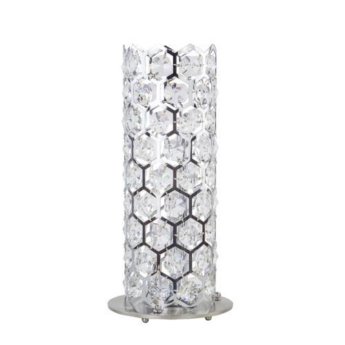 Luxe tafellamp chroom met kristal
