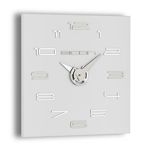 Moderne wand klok wit vierkant