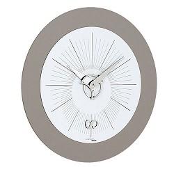 Moderne klok wit/grijs