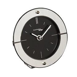 Design tafelklokje zwart-staal nachtkast
