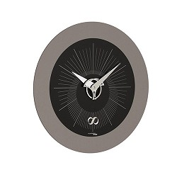 Moderne klok zwart/grijs