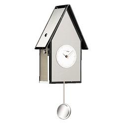 Design koekoeks klok staal-wit keuken