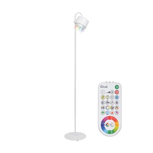 *Witte vloerlamp LED kleuren + bediening