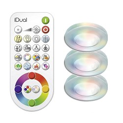 Idual set inbouwspots incl. remote