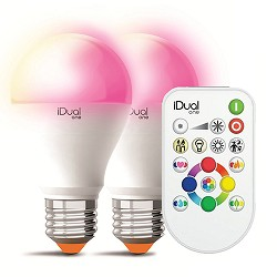 *Set IDual One E27 LED lichtbron remote