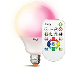 IDual One grote lichtbron E27 LED remote
