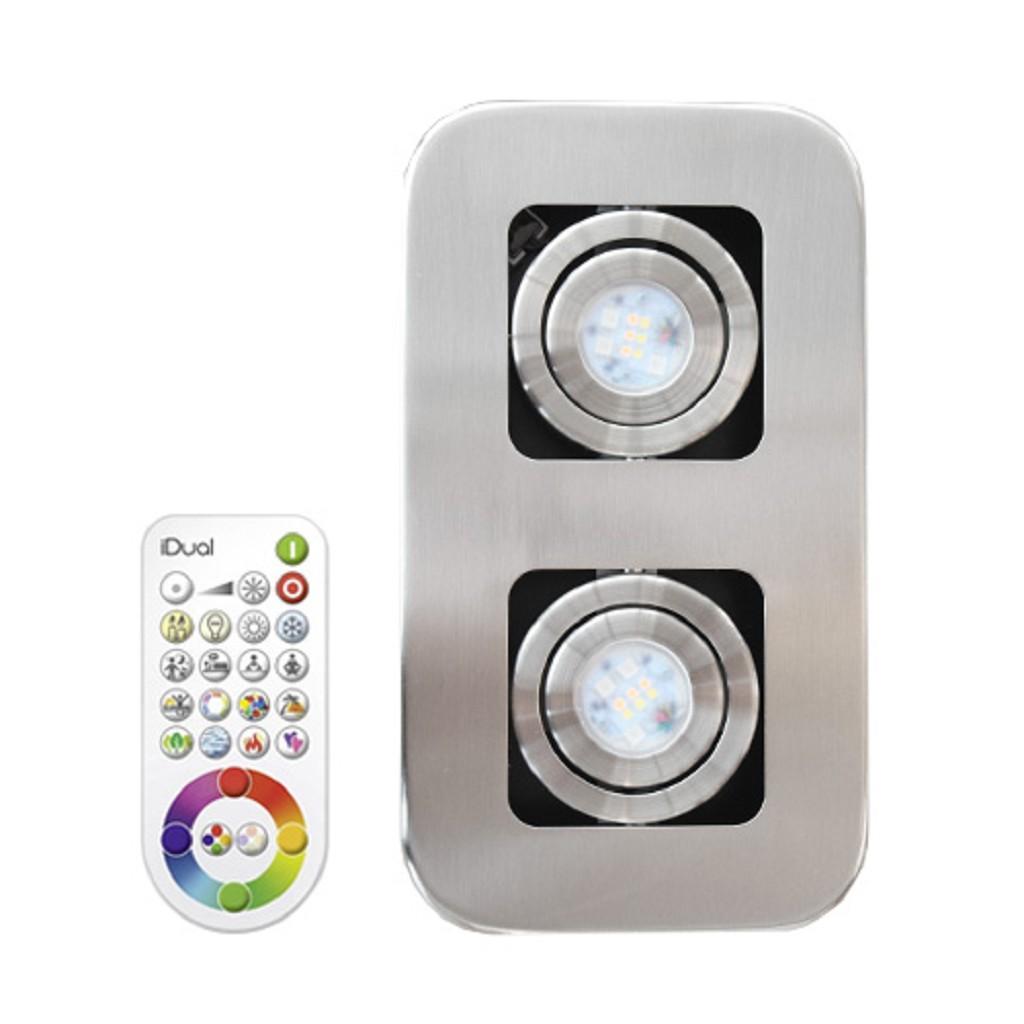 *LED plafondlamp-spot staal Idual Quarto