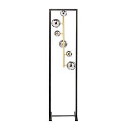 Elegante luxe vloerlamp met 6 glazen bollen