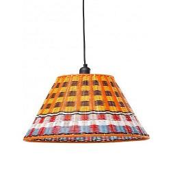 Hanglamp retro, oranje, blauw, rood en wit