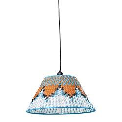 Hanglamp retro, oranje, zwart,wit,blauw