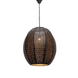 Orientaalse hanglamp zwart / goud hal
