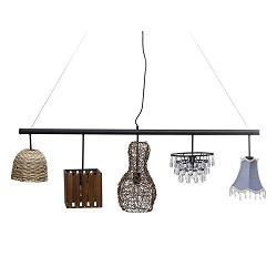 Eettafel hanglamp met vijf kapjes