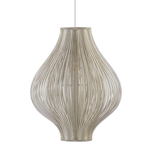 Trendy gouden hanglamp met stofreepjes