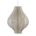 *Trendy gouden hanglamp met stofreepjes