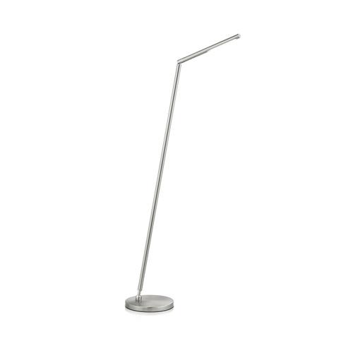 Vloerlamp mat nikkel LED verstelbaar