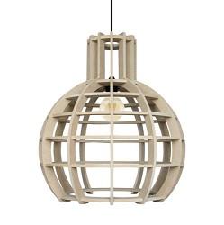 **Eettafel hanglamp Globe Lingehof hout