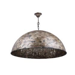 Landelijke hanglamp koepel glazen pegels