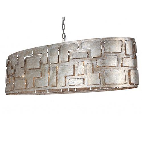 Hanglamp ovaal oud zilver