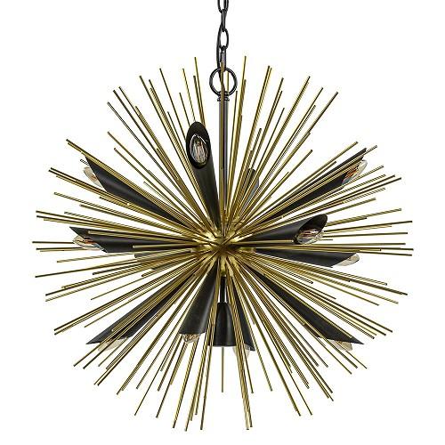 Ronde design hanglamp zwart met goud
