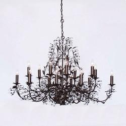 Romantische kroonluchter hanglamp bruin